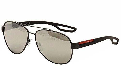 Prada Sunglasses PS55QS, Dark Grey, - Sunglasses Rectangular Prada Aviator