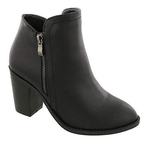 Top d Booties Black Moda Ankle Women's rgrvp
