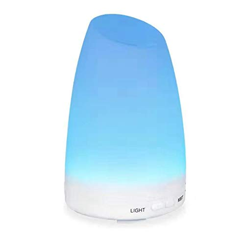 Criacr 150ml Essential Oil Diffuser, Cool Mist Humidifiers with 7 Colorful LED Lights, Adjustable Mist Mode