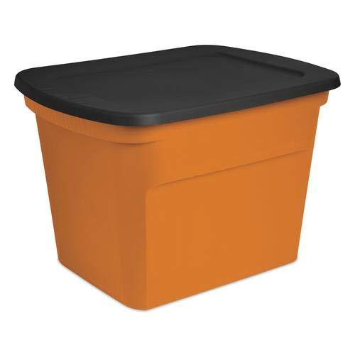 Home World 18 Gallon Storage Tote | Laundry Storage Organizer Multi Purpose Use in Orange
