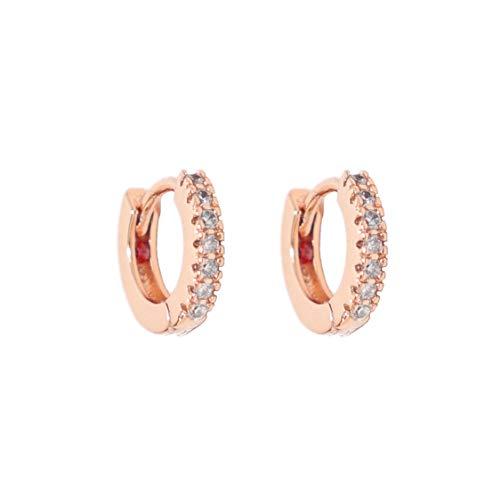 Heart Made of Gold Huggie Earrings - Small Hoop Earrings - Hoop Earrings for Women - Diamond Earrings - Gold Hoop Earrings - Huggie Hoop Earrings (Rose Gold)