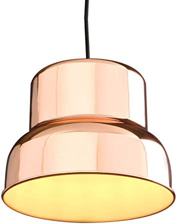 PERMO Modern Industrial Barn Farmhouse Kitchen Island Pendant Light Fixture with 11inch Copper Metal Shade