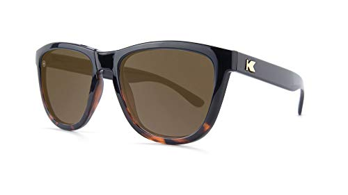 Knockaround Premiums Polarized Sunglasses With Black And Tortoise Shell Frames/Brown Lenses