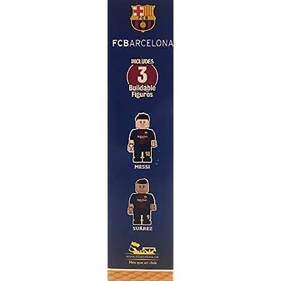 FCB Buildable Playmaker Set Messi Suarez: Toys & Games