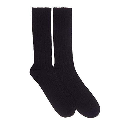 - Mens Cashmere Socks, Black M