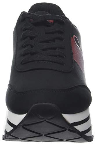 Black Metal Calvin Jeans Low Nylon Metal 000 Red Black Women''s Coretta Film Klein Sneakers Top nUn7Pqx1