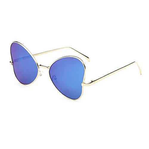Aoligei Fashion tendance gros frame lunettes de soleil papillon rétro populaire style personnalité lunettes de soleil C