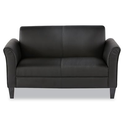 Alera ALERL22LS10B Reception Lounge Furniture, Loveseat, 55-1/2w x 31-1/2d x 32h, Black