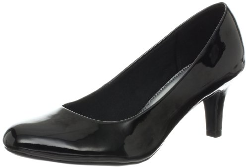 LifeStride Women's Parigi Dress Pump, Black Glory, 7 W US
