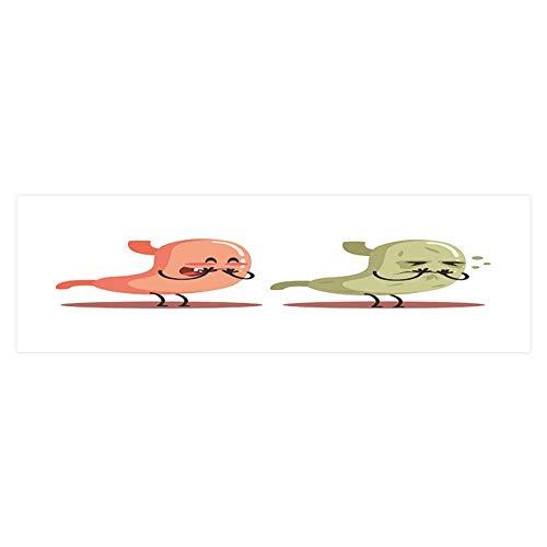 Anatomic Drop - Dragonhome Fish Tank Backdrop Static Cling Stomach Human Internal Organ vs un Medical Anatomic Cartoon Character PVC Decoration Paper Cling Decals Sticker L29.5 x H17.7