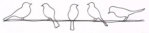 Graham & Brown 41-221 Bird on a Wire Metal Wall Art (Wall Decors Metal)