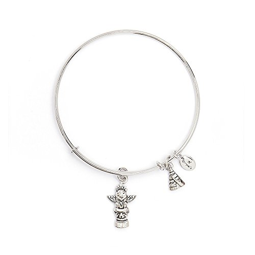 (Chrysalis Kamali Collection Spirited Treasure Expandable Bangle Rhodium Plate CRBT2411SP)