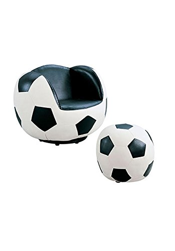 (Acme All Star Soccer 2-Piece Chair and Ottoman Set)