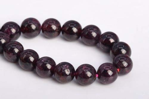 Genuine Mozambique Garnet Earrings - 6-7mm Genuine Natural Purple Red Garnet Mozambique Round Loose Beads 7.5'' Crafting Key Chain Bracelet Necklace Jewelry Accessories Pendants