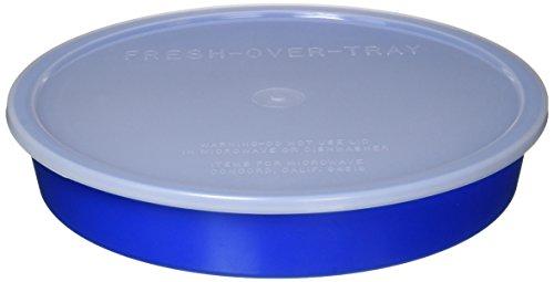 Sammons Preston High-Sided Divided Dish, Blue, Break-Resistant & Lightweight Polypropylene Plastic, 10