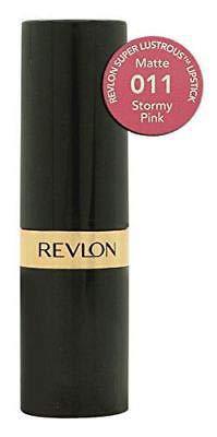 Revlon Super Lustrous Matte Lipstick, Stormy Pink [011] 0.15 oz (Pack of 3)