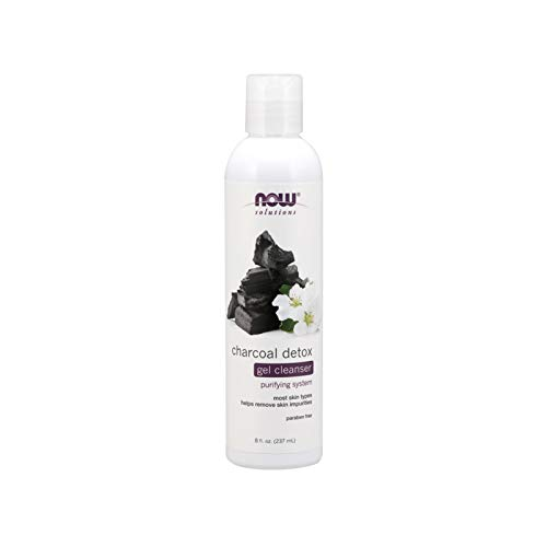 - NOW Solutions, Charcoal Detox Gel Cleanser, Purifying System, for Most Skin Types, 8-Ounce