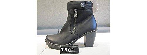 Y1553 amp; femme bottes bottines Rieker Noir Y7TxqCCw