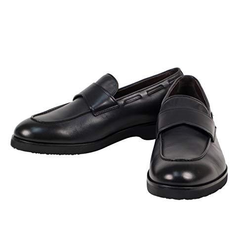 Ermenegildo Zegna Men's Leather Loafers Shoes US 10 EU 11 Black