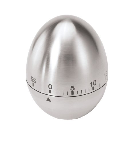 Oggi Egg Stainless Steel 60-Minute Kitchen Timer (Egg Shaped Timer)