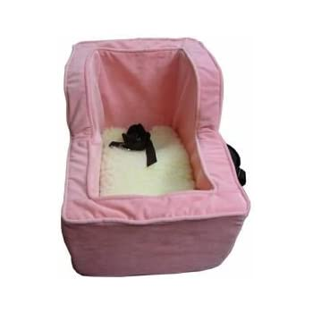 snoozer large console pet car seat baby pink vinyl pet beds pet supplies. Black Bedroom Furniture Sets. Home Design Ideas