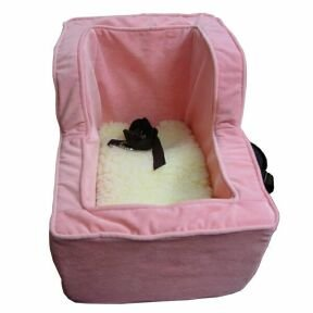 Snoozer Large Luxury High Back Console Pet Car Seat, Pink/Pink Microsuede, My Pet Supplies