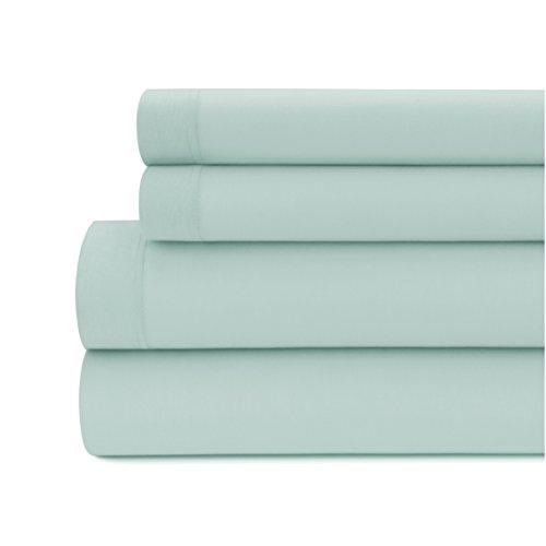 Silky Modal Jersey 4 Piece Queen Bed Sheet Set in Blue Haze ()