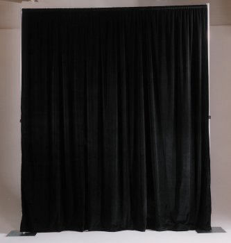 Cotton Velour Drapery Panel Color: Gray, Size: 4' x - Cotton Panels Drapery Velour
