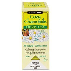 Bigelow Tea Bags, Cozy Chamomile Herbal, 28-Count Boxes (Pack of 6)