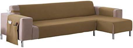 Martina Home Cubre sofá Chaise longue modelo Betta - Tela - Brazo derecho - color Beige - medida 280 cm ancho.