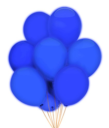 "Fun Central AH943 LED 14"" Blinky Balloons - Blue - 5ct"