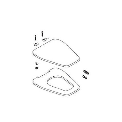 Innocent Blush (KOHLER K-1014072-55 Rochelle Toilet Seat, Innocent Blush)