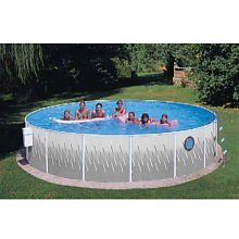 "Round 42"" Deep Pool Package with Port Hole Size: 18' W"
