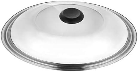 HEMOTON Pannendeksel roestvrij staal deksel vervanging diameter 34 cm zichtbaar universeel deksel voor pan pan kookgerei universeel braden koken accessoires keukenhulp