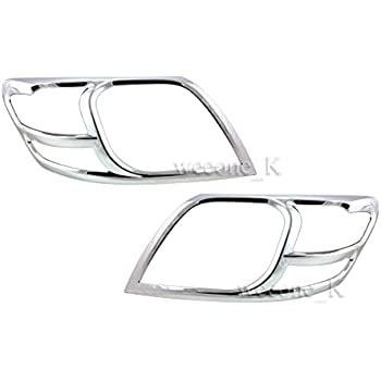 2005-2010 CHROME FRONT HEAD LIGHT LAMP COVERS TRIMS SURROUND