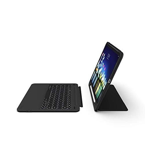 """ZAGG Slimbook Go - Ultrathin Case, Hinged with Detachable Bluetooth Keyboard - Made for 2019 Apple iPad Pro 11"""" - Black"""