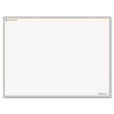 WallMates Self-Adhesive Dry Erase Writing Surface, White/Gray, 24'' x 18'', Sold as 1 Each, 10PACK , Total 10 Each by At-A-Glance