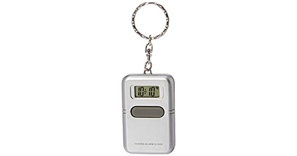 Amazon.com: Reloj altavoz Llavero Plata: Health & Personal Care