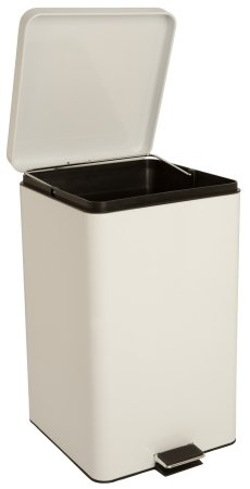 McKesson Brand Entrust Trash Can with Plastic Liner - 81-35266EA - White, 1 Each / Each