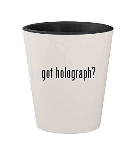 got holograph? - Ceramic White Outer & Black Inner 1.5oz Shot Glass (Best Replica Shoe Site)