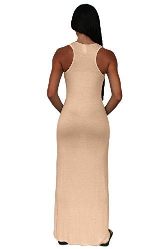 Gorgeous Women's Rayon Maxi Sleeveless DRESS: MOCHA (SM)