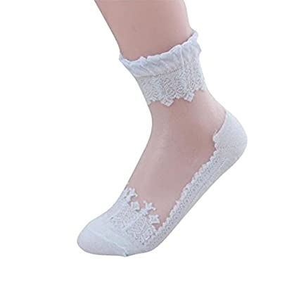 Calcetines Finos de Mujer, LILICAT® Calcetines de Encaje Transparente Ultrafino de Cristal, 2018