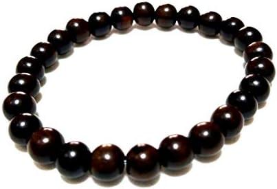黒檀(こくたん)8ミリ☆数珠ブレスレット (17 センチメートル)