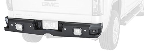 WARN 96550 Ascent Rear Bumper for Chevrolet 1500, 2500 and 3500 & GMC Sierra 1500, 2500, and 3500 (2014-2017)