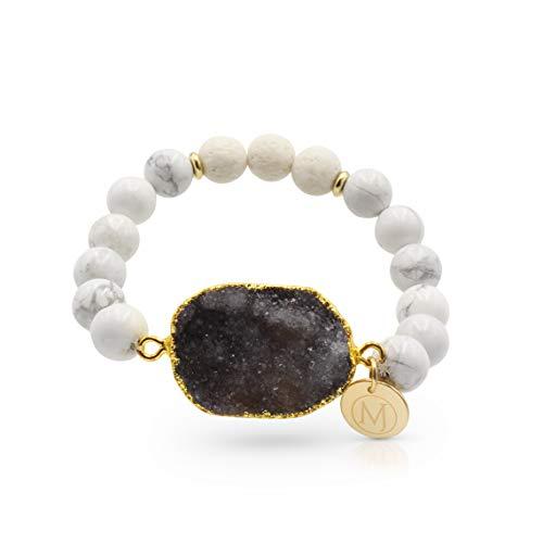 - Molten Jewel Essential Oil Bracelet, Anxiety Bracelet, Aromatherapy Bracelet, Lava Stone Bracelet, Essential Oil Diffuser Bracelet for Anxiety & Bracelet for Men & Women and Mens Bracelet