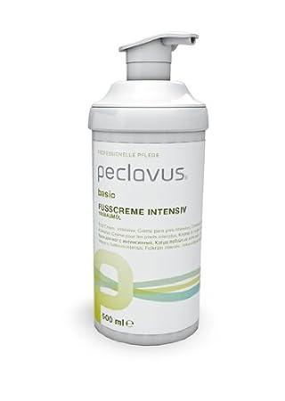 Peclavus Basic Fußcreme intensiv, Fusspflege mit Teebaumöl für trockene Füsse, 500 ml