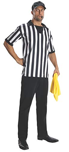Easy Halloween Costumes For College Kids (Rubie's Heroes And Hombres Adult Referee Shirt And Hat, White/Black,)