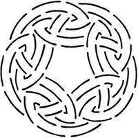 Quilting Creations Celtic Circle Quilt Stencil