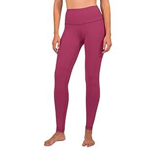 90 Degree By Reflex High Waist Squat Proof Interlink Leggings for Women - Pomberry - Medium