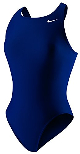 Back Tank Swimsuit - Nike Women's Poly Core Solids Fast Back Tank Swimsuit 26 Midnight Navy